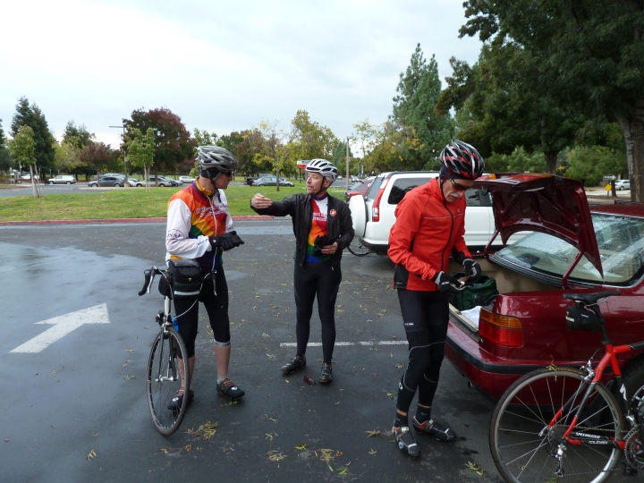 Riders at the end of the Mt. Hamilton ride